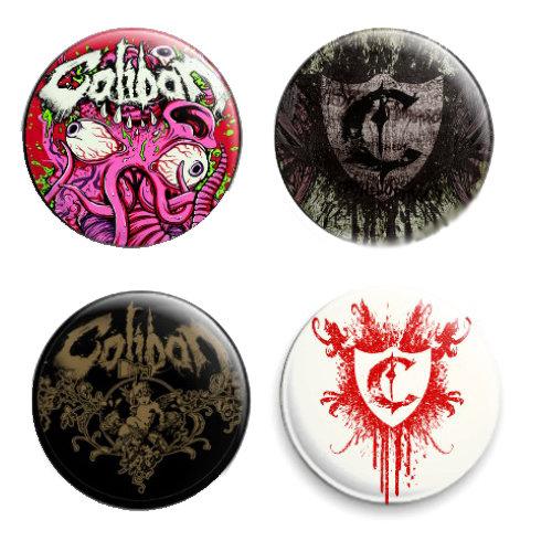 Значок - Caliban(комплект из 4-х значков)