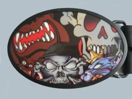 Пряжка - Skull5