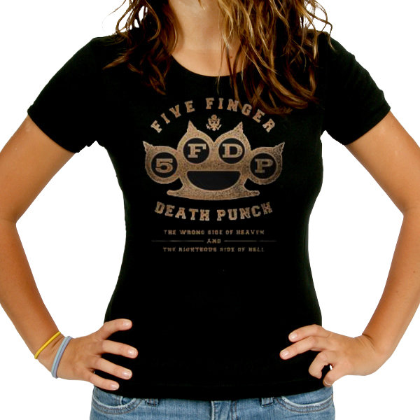 Футболка - Five Finger Death Punch - Knuckles Skinny (женская)