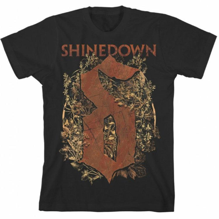Футболка - Shinedown (Overgrown euro tour)