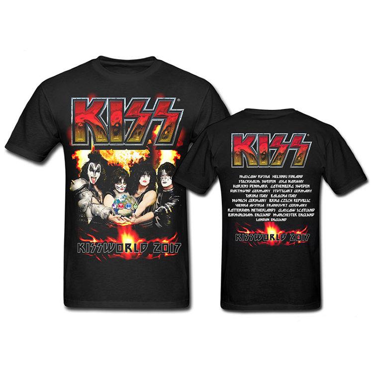 Футболка - KISS( Fire Logo Kissworld Tour)