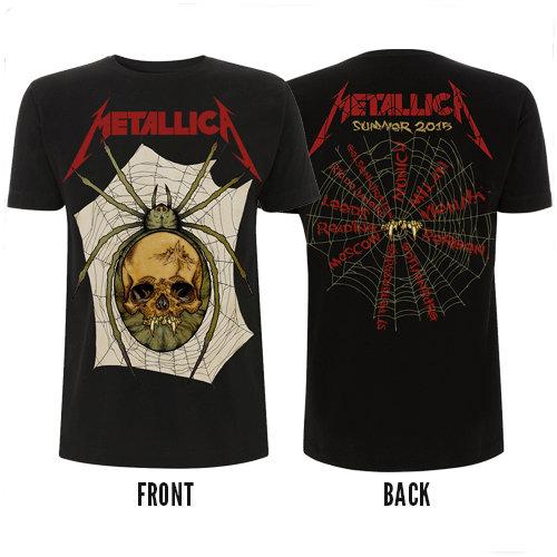 Футболка - Metallica (Spider Skull 2015 Tour)