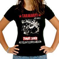 Футболка - Тараканы!Tour 2013 (женская)