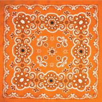 Бандана - Цветы оранжевые