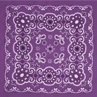 Бандана - Цветы фиолетовые