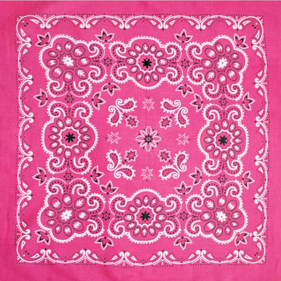 Бандана - Цветы розовые