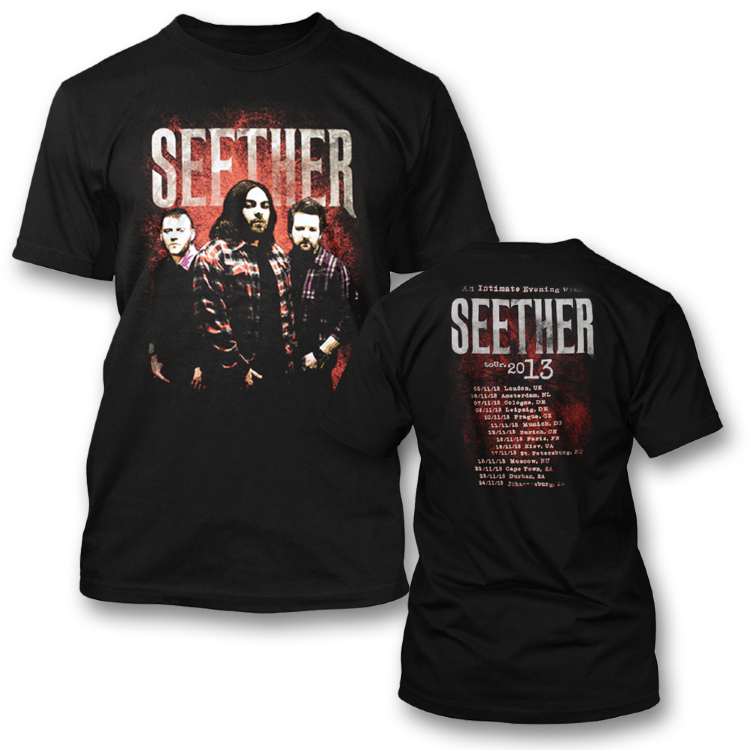 Футболка -  Seether(Euro Tour 2013)