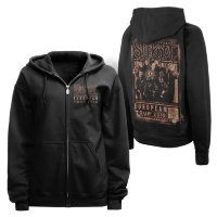 Толстовка - SLIPKNOT(BLURRED EUROPEAN TOUR ZIP HOODIE)
