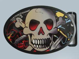Пряжка - Skull3